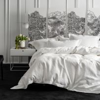 Grace by Linen House Georgia White King Quilt Cover Set