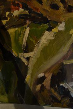 Trabajo de 3er año, composición abstracta... Óleo sobre cartón, 30x40cm
