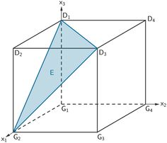 Grafik zur Lösung der Teilaufgabe a - Geometrie II - Mathematik Musterabitur Bayern 2011 G8