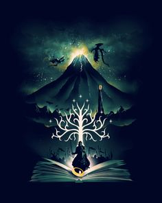 Graphic Novel Series of Illustration on Behance Middle Earth Art, Fantasy, Lotr Art, Poster Prints, Fantasy Art, Lord Of The Rings, Pictures, Digital Art Illustration, Greek Goddess Art