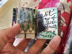 gorgeous mini journal - by artist Roxanne Coble