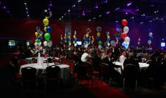 The Gala room looks great with show sponsor balloons dotted about
