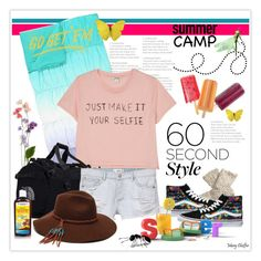 """60-Second Style: Summer Camp"" by mcheffer ❤ liked on Polyvore featuring PBteen, Monki, The North Face, MANGO, ále by Alessandra, Fat Face, Vans, summercamp and 60secondstyle"