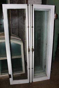 Glass doors with cremone bolt old windows transoms for Storybookhomes com