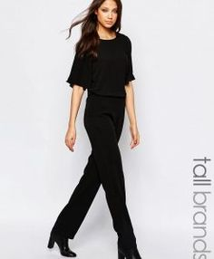 Buy Vero Moda Tall Angel Sleeve Jumpsuit at ASOS. Get the latest trends with ASOS now. Jumpsuit With Sleeves, Black Jumpsuit, Clothing For Tall Women, Clothes For Women, Tall Guys, Tall Men, Angel Sleeve, Playsuits