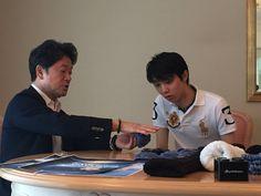 アドバイザリー契約を結ぶ羽生結弦選手と念願の商品についてのミーティングができました。  http://www.ralphlauren.co.jp/men/polo/polos-and-knits-11/sskccmm1-short-sleeve-knit-pie-621623/631943