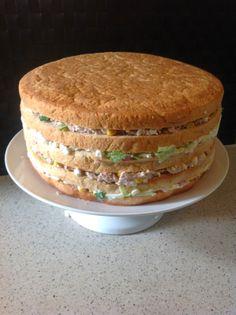 Farmor hygge : Fyldet til smørrebrødslagkagen :)