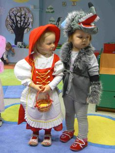 The Little Red Riding Hood and the Wolf with time