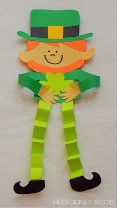 Leprechaun craft for St. Patrick's Day Leprechaun craft for Kids Crafts, St Patrick's Day Crafts, Daycare Crafts, Classroom Crafts, Preschool Crafts, Holiday Crafts, Craft Projects, Arts And Crafts, Hero Crafts
