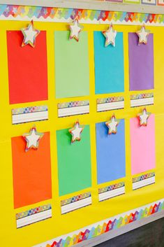 Impress your friends and show off your creativity with your DIY ideas. Preschool Art Display, Preschool Classroom Themes, Stars Classroom, Preschool Rooms, Classroom Board, Classroom Design, Classroom Displays, Classroom Setup, Preschool Crafts