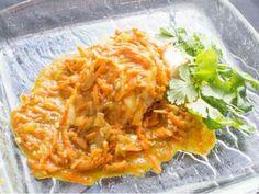 Rybí filé s mrkví -   Prostřeno.cz Thai Red Curry, Chicken, Meat, Ethnic Recipes, Food, Essen, Meals, Yemek, Eten