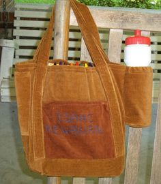 Here is a bag I made for our grandson Isaac, so he could take his stuff with him when they go places.  Crayon slots inside.