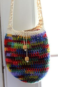 Hand crafted hippie tote!