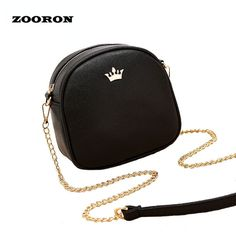 Female Small Bags 2017 Summer New Girls PU Leather Messenger Bags Lady Ci... New #BrandNamezooron #Gray