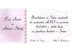 Svadobné oznámenie - SD011