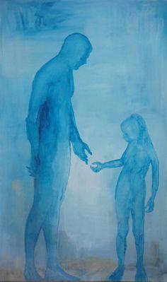 """Saatchi Art Artist Monika Vitanyi; Painting, """"Trusting hold on"""" #art"""