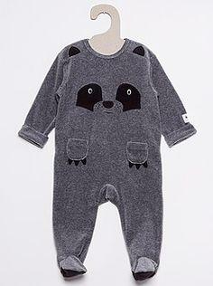 Bambino 0-24 mesi Pigiama ciniglia stampa panda - Kiabi Panda db5e30e8dd3