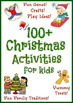An amazing collection of FUN Christmas activities for kids including crafts, games, sensory activities, family traditions amp; more!