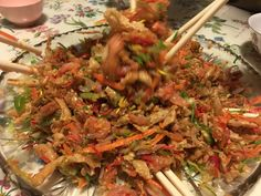 Yee sang after the toss. Happy Chinese New Year of the Monkey
