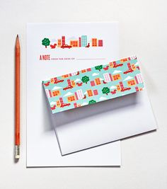 Free printable: city stationery set | How About Orange