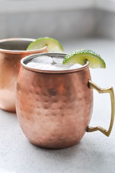 Moscow Mule Recipe - make this classic holiday drink and serve it in the traditional copper mug. It's delicious and easy!