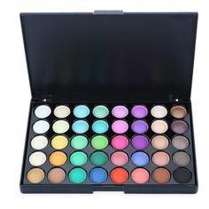 Popfeel Make up Cosmetics Smoky/Warm Shimmer Eyeshadow Professional 40 Color Glitter and matte Eyeshadow Palette Silky Powder