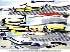 View Seascape from Landscape Series by Roy Lichtenstein on artnet. Browse upcoming and past auction lots by Roy Lichtenstein. Art Pop, Roy Lichtenstein Art, Industrial Paintings, Popular Art, Screen Printing, Original Artwork, Modern Art, Illustration Art, Illustrations