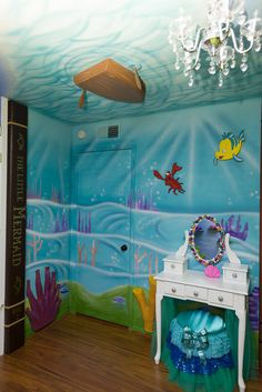 Gorgeous Little Girl Bedroom Ideas Mermaid Room Mermaid And with Stunning Bedroom Ideas For A Little Girl Little Mermaid Bedroom, Mermaid Room, The Little Mermaid, Mermaid Nursery Theme, Mermaid Bathroom, Mermaid Lagoon, Sea Bedrooms, Disney Bedrooms, Disney Themed Rooms