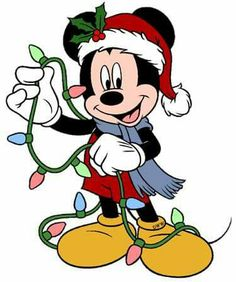 Disney Mickey with Christmas lights. Christmas and Holiday Window Static Cling - donald duck - Weihnachten Christmas Yard Art, Hanging Christmas Lights, Christmas Drawing, Christmas Clipart, Christmas Pictures, Christmas Decorations, Holiday Lights, Christmas Time, Christmas Wreaths