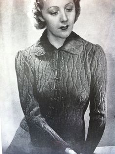 Unique  1930s sophisticated Sweater Jacket  or Coat (Vintage Knitting Pattern) by VanessaLovesVintage, $3.00