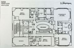 520 Park Avenue Penthouse Duplex Floor Plan - Upper Floor 49th Floor (1200×783)
