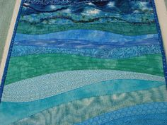 Ocean quilted table runner