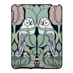 Art Nouveau Owls Nest Pattern
