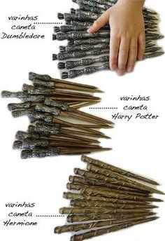 canetas de lembrancinha de aniversário Harry Potter