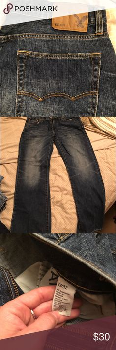 Men's American Eagle Original Bootcut Jeans Like new American Eagle Jeans. Size 32x32. Original bootcut style.  I really don't think my boyfriend has even worn these before. Price is flexible! American Eagle Outfitters Jeans Bootcut
