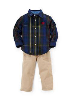 Chaps 2-Piece Button Front Shirt and Pant Set. Baby BoysLittle BoysLittle  ChildrenToddler Boys d2d4e5735d06