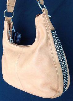 Concealed Carry Beige Ambidextrous Rhinestone Handbag w/ Holster