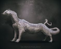 The NeverEnding Story Character Redesigns by Nicolas Francoeur: Falkor, the luck dragon.