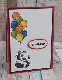 Party Pandas - With Masked Ballons