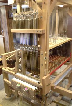 The intricacies of Ilga's LeClerc WeaveBird loom.