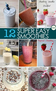 These easy smoothie recipes are delicious and great for days we don't have time to sit and eat breakfast!