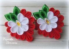 Ribbon Hair Clips, Ribbon Art, Diy Ribbon, Ribbon Crafts, Diy Bow, Flower Crafts, Ribbon Bows, Cloth Flowers, Diy Flowers