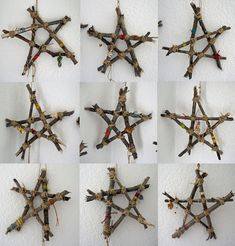 Made out of stick...and how cool would this be to wrap lights around and hang out on the front porch for Christmas!
