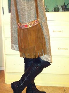Bohemian Leather Fringe Hip Bag by ResplendentLeather on Etsy sweet gift for someone special!