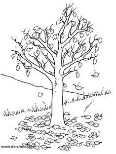 Fall Tree Coloring Page - √ 27 Fall Tree Coloring Page , Bare Tree without Leaves Coloring Pages Tree Coloring Leaf Coloring Page, Spring Coloring Pages, Online Coloring Pages, Free Printable Coloring Pages, Colouring Pages, Coloring Pages For Kids, Coloring Books, Autumn Trees, Autumn Leaves