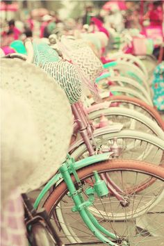 I want a bicycle in pink...or mint...or light yellow...or...