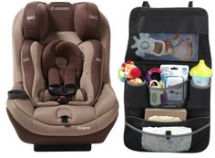 Maxi-Cosi Pria 70 with Tiny Fit Convertible Car Seat and Backseat Organizer, Walnut Brown Maxi-Cosi