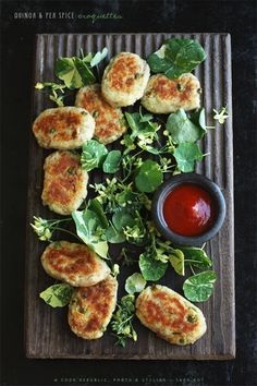 Vegan Quinoa And Pea Spice Croquettes from Cook Republic. Simple, natural and delicious! #vegan #entree #recipes