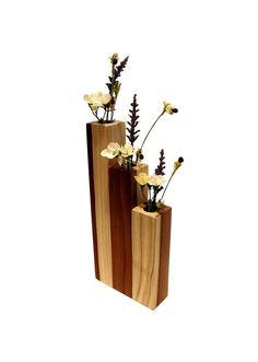 Modern Poplar Wood Vase Natural Finish Wooden by Timberandcompany, $28.00
