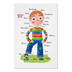 body parts poster for kids - Google Search